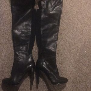 NINE WEST Black knee high boots